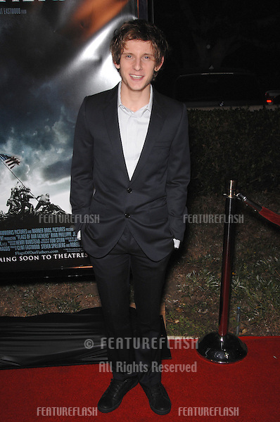 """JAMIE BELL at the Los Angeles premiere of """"Flags of our Fathers""""..October 9, 2006  Los Angeles, CA.Picture: Paul Smith / Featureflash"""