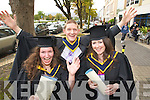 Pictured at the Institute of Technology, Tralee Autumn Conferring of Awards Ceremony on Friday, in the Brandon hotel were Helene Fallourd, Tralee, Patrick Hayes, Kilcummin and Siobhain O'Mahony Tralee Killarney who Graduated in Honours Analytical Science.