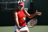 STANFORD, CA - OCTOBER 28:  Lindsay Burdette during picture day on October 28, 2008 at the Taube Family Tennis Stadium in Stanford, California.