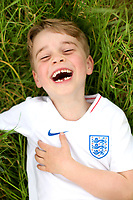 21 July 2019 - London, UK - Photo of Prince George of Cambridge taken by his mother, the Duchess of Cambridge, taken recently in the garden of their home at Kensington Palace in London, to mark his sixth birthday on Monday. Photo Credit: ALPR/AdMedia
