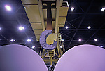 Industrial crane and 20 ton paper rolls in manufacturing facility