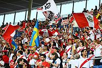Fans aus Peru feiern - 09.09.2018: Deutschland vs. Peru, Wirsol Arena Sinsheim, Freundschaftsspiel DISCLAIMER: DFB regulations prohibit any use of photographs as image sequences and/or quasi-video.