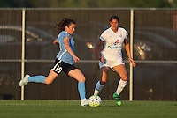 Piscataway, NJ - Saturday June 11, 2016: Kelley O'Hara, Brittany Taylor during a regular season National Women's Soccer League (NWSL) match between Sky Blue FC and FC Kansas City at Yurcak Field.