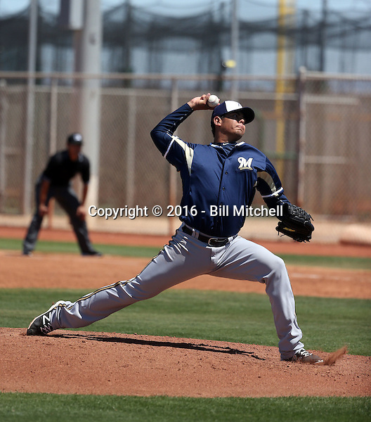Jorge Zavala - Milwaukee Brewers 2016 extended spring training (Bill Mitchell)