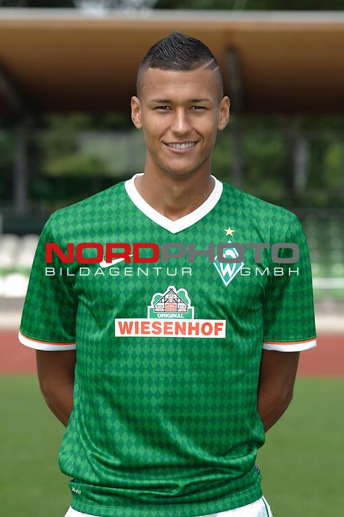 19.07.2013, Platz 11, Bremen, GER, RLN, Mannschaftsfoto Werder Bremen II, im Bild Davie Selke (Bremen #11)<br /> <br /> Foto &copy; nph / Frisch