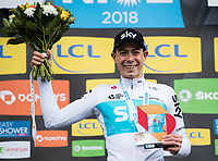 Picture by Alex Broadway/SWpix.com - 11/03/2018 - Cycling - 2018 Paris Nice - Stage Eight - Nice to Nice - David de la Cruz of Team Sky celebrates on the podium after winning the stage.<br /> <br /> NOTE : FOR EDITORIAL USE ONLY. THIS IS A COPYRIGHT PICTURE OF ASO. A MANDATORY CREDIT IS REQUIRED WHEN USED WITH NO EXCEPTIONS to ASO/Alex Broadway MANDATORY CREDIT/BYLINE : ALEX BROADWAY/ASO