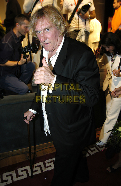 GERARD DEPARDIEU.Closing ceremony of the 10th Sarajevo Film Festival,.August 28th 2004..half length .Ref: KRA.www.capitalpictures.com.sales@capitalpictures.com.©Capital Pictures.