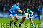 Gavin O'Brien Kerry in action against James McCarthy Dublin during the Allianz Football League Division 1 Round 3 match between Kerry and Dublin at Austin Stack Park in Tralee, Kerry on Saturday night.