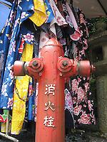 Japanese Kimonos & Fire Hydrant