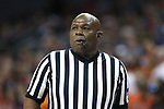 CHARLOTTESVILLE, VA - MARCH 03: Official Les Jones. The University of Virginia Cavaliers hosted the University of Notre Dame Fighting Irish on March 3, 2018 at John Paul Jones Arena in Charlottesville, VA in a Division I men's college basketball game. Virginia won the game 62-57.