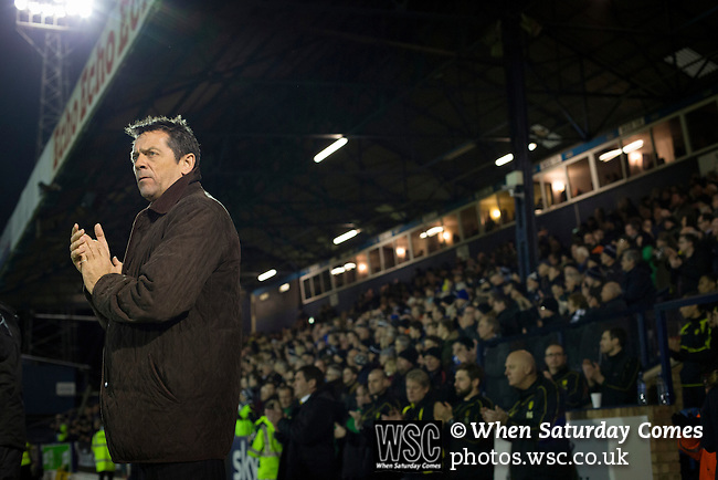 Southend United 1 Burton Albion 1, 22/02/2016. Roots Hall, League One. Home manager Phil Brown joining in a minute's applause for supporters who had passed away in 2015, at Roots Hall stadium, before Southend United took on Burton Albion in a League 1 fixture. Founded in 1906, Southend United moved into their current ground in 1955, the construction of which was funded by the club's supporters. Southend won this match by 3-1, watched by a crowd of 6503. Photo by Colin McPherson.