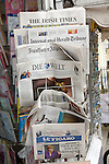 Foreign newspapers in display rack
