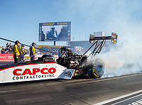 Oct 28, 2017; Las Vegas, NV, USA; NHRA top fuel driver Steve Torrence during qualifying for the Toyota National at The Strip at Las Vegas Motor Speedway. Mandatory Credit: Mark J. Rebilas-USA TODAY Sports