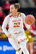 College Park, MD - DEC 6, 2016: Maryland Terrapins guard Blair Watson (22) gets a steal and drives to the basket for a lay up during game between Towson and Maryland at XFINITY Center in College Park, MD. The Terps defeated the Tigers 97-63. (Photo by Phil Peters/Media Images International)