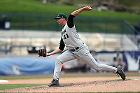 Fort Wayne TinCaps pitcher Ben Sheckler (21) delivers a pitch to the plate against the West Michigan Michigan Whitecaps during the Midwest League baseball game on April 26, 2017 at Fifth Third Ballpark in Comstock Park, Michigan. West Michigan defeated Fort Wayne 8-2. (Andrew Woolley/Four Seam Images via AP Images)