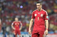 FUSSBALL WM 2014  VORRUNDE    Gruppe B     Spanien - Chile                           18.06.2014 Fernando Torres (Spanien) ist enttaeuscht