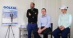BADHOEVEDORP - presentator Daan Slooter, Jeroen Stevens (dir. NGF),  golfprofessional Anne van Dam,  Van 20 t/m 22 mei zal op de International Golfcourse de ING Private Banking Golf Week voor het eerst gehouden worden.  COPYRIGHT KOEN SUYK