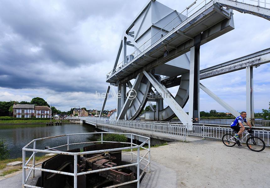 France, Calvados (14), Ranville, Pegasus Bridge ou pont de Bénouville // France, Calvados, Ranville, Pegasus Bridge or bridge of Benouville