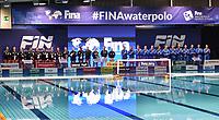 Teams Italyy and Nederland during the presentation <br /> Firenze 19-11-2019 Piscina Nannini <br /> water polo Women's World League <br /> Italy ITA - Nederland NED <br /> Photo Andrea Staccioli/Deepbluemedia/Insidefoto