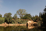 Israel, the pool at Wohl Rose Park of Jerusalem