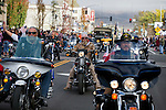 Nevada Veterans of Foreign Wars ride in the annual Nevada Day parade in Carson City, Nev. on Saturday, Oct. 29, 2016. <br />