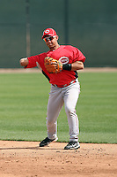 Henry Rodriguez #41 of the Cincinnati Reds plays in a minor league spring training game against the Arizona Diamondbacks at Salt River Fields on March 15, 2011 in Scottsdale, Arizona. .Photo by:  Bill Mitchell/Four Seam Images.