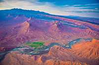 Colorado River, Castle Valley and La Sal Mountains, Porcupine Rim, near Moab, Utah