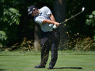Bethesda, MD - June 25, 2016: Patrick Reed tees off the 13th hole during Round 3 of professional play at the Quicken Loans National Tournament at the Congressional Country Club in Bethesda, MD, June 25, 2016.  (Photo by Don Baxter/Media Images International)