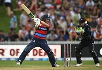Dawid Malan batting for England.<br /> New Zealand Black Caps v England.Tri-Series International Twenty20 cricket. Eden Park, Auckland, New Zealand. Sunday 18 February 2018. &copy; Copyright Photo: Andrew Cornaga / www.Photosport.nz