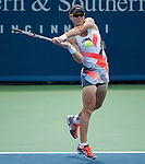 Samantha Stosur (AUS) goes three sets  at the Western and Southern Financial Group Masters Series in Cincinnati on August 17, 2012