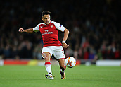 14th September 2017, Emirates Stadium, London, England; UEFA Europa League Group stage, Arsenal versus FC Cologne; Alexis Sanchez of Arsenal crosses into the FC Koln box