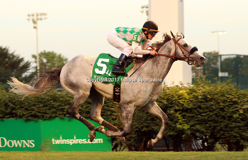 LOUISVILLE, KY - JUNE 17: Kasaqui (ARG) (#5, James Graham) wins the 28th running of the G2 Wise Dan at Churchill Downs, Louisville, KY. Owner Wiimbourne Farm (Diane L. Perkins), Trainer Ignacio Correas, IV. By Lasting Approval x Kemosheba (Alysheba.)  (Photo by Mary M. Meek/Eclipse Sportswire/Getty Images)
