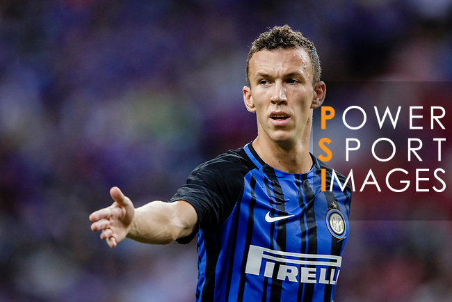 FC Internazionale Forward Ivan Perisic gestures during the International Champions Cup 2017 match between FC Internazionale and Chelsea FC on July 29, 2017 in Singapore. Photo by Marcio Rodrigo Machado / Power Sport Images
