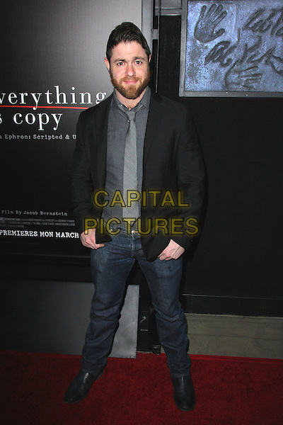 HOLLYWOOD, CA - MARCH 10: Jacob Bernstein at the premiere of HBO's 'Everything Is Copy' at TCL Chinese Theatre on March 10, 2016 in Hollywood, California. <br /> CAP/MPI/DE<br /> &copy;DE/MPI/Capital Pictures