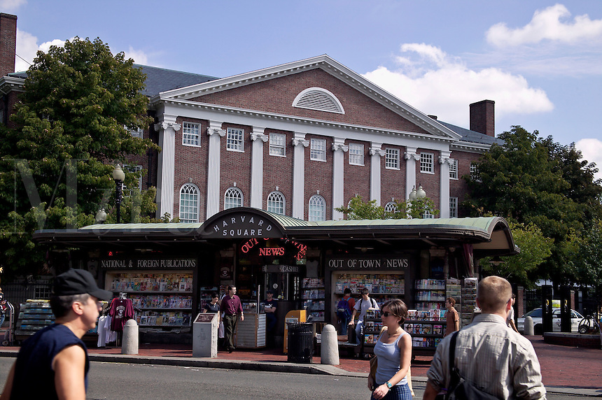 News Stand, Harvard Square across from Harvard University, Cambridge, M