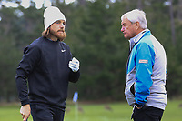 Tommy Fleetwood (ENG) and Alan Thompson at Spyglass Hill Golf Course during the second round of the AT&amp;T Pro-Am, Pebble Beach Golf Links, Monterey, USA. 08/02/2019<br /> Picture: Golffile | Phil Inglis<br /> <br /> <br /> All photo usage must carry mandatory copyright credit (&copy; Golffile | Phil Inglis)