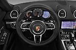 Car pictures of steering wheel view of a 2017 Porsche 718 Boxster-S 2 Door Convertible Steering Wheel