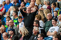 A minister jeers the Man City Fans during the Barclays Premier League match between Swansea City and Manchester City played at the Liberty Stadium, Swansea on the 15th of May  2016
