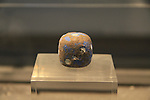 A cube from Tel Dan, 8th-7th centuries BC, at the Skirball Museum of Biblical Archaeology in Jerusalem