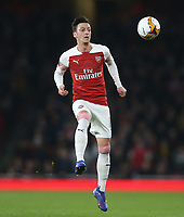 Arsenal's Mesut Ozil<br /> <br /> Photographer Rob Newell/CameraSport<br /> <br /> UEFA Europa League Round of 32 Second Leg - Arsenal v BATE Borisov - Thursday 21st February 2019 - The Emirates - London<br />  <br /> World Copyright © 2018 CameraSport. All rights reserved. 43 Linden Ave. Countesthorpe. Leicester. England. LE8 5PG - Tel: +44 (0) 116 277 4147 - admin@camerasport.com - www.camerasport.com