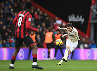 2nd November 2019; Vitality Stadium, Bournemouth, Dorset, England; English Premier League Football, Bournemouth Athletic versus Manchester United; Victor Lindelöf of Manchester United plays the ball into the penalty area - Strictly Editorial Use Only. No use with unauthorized audio, video, data, fixture lists, club/league logos or 'live' services. Online in-match use limited to 120 images, no video emulation. No use in betting, games or single club/league/player publications