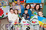 FUN TIME: Parents and children from Foilmore National School in South Kerry with some of the Story Sacks produced by the parents which went on display on Friday last. .Front L/r. Nikki and Cara Coffey, Tara Kavanagh and Joseph Coffey, Noreen Cronin and Stephen Fogarty..Back. Saoirse and Morgan Lyne.