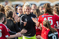 Boston, MA - Saturday April 29, 2017: Megan Rapinoe and fans during a regular season National Women's Soccer League (NWSL) match between the Boston Breakers and Seattle Reign FC at Jordan Field.