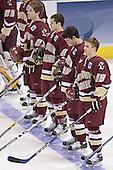 Brian O'Hanley, Dan Bertram, Brett Motherwell, Brock Bradford - The University of Wisconsin Badgers defeated the Boston College Eagles 2-1 on Saturday, April 8, 2006, at the Bradley Center in Milwaukee, Wisconsin in the 2006 Frozen Four Final to take the national Title.