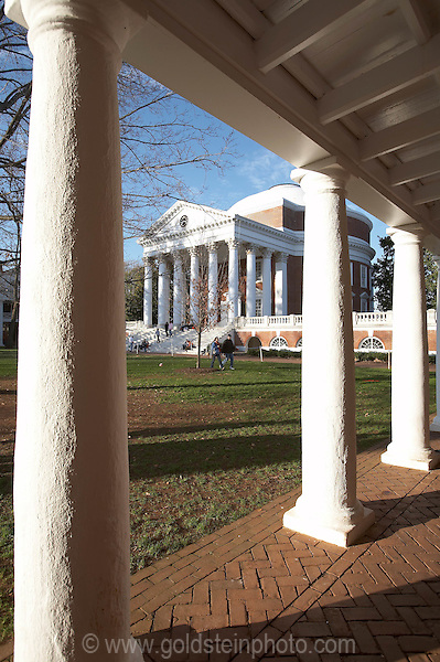 Rotunda and columns at UVA.<br />