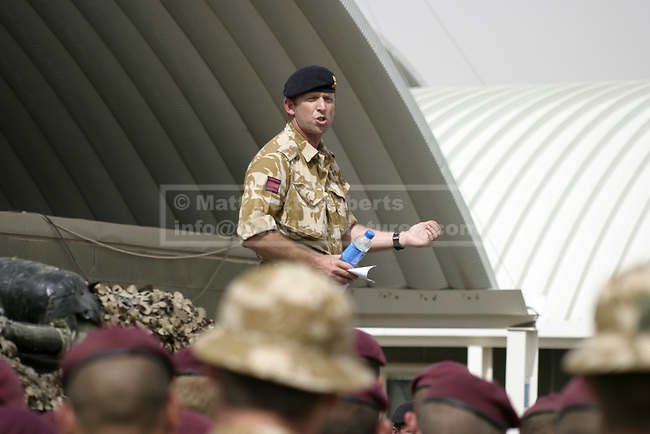 As the 12 Mechanised Brigade's tour begins in earnest, the commanding officer of an engineer regiment addresses his soldiers.