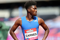 Carnes after competing in the mens 100 metres during the Muller Anniversary Games at The London Stadium on 9th July 2017