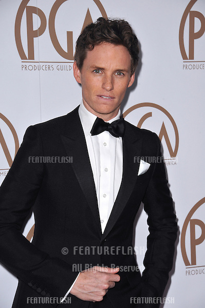 Eddie Redmayne at the 26th Annual Producers Guild Awards at the Hyatt Regency Century Plaza Hotel.<br /> January 24, 2015  Los Angeles, CA<br /> Picture: Paul Smith / Featureflash