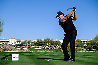 Phil Mickelson (USA) on the 4th tee during the 2nd round of the Waste Management Phoenix Open, TPC Scottsdale, Scottsdale, Arisona, USA. 01/02/2019.<br /> Picture Fran Caffrey / Golffile.ie<br /> <br /> All photo usage must carry mandatory copyright credit (© Golffile | Fran Caffrey)