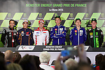 Press conference in Le Mans with the riders<br /> johann zarco<br /> marc marquez<br /> valentino rossi<br /> jorge lorenzo<br /> pol espargaro